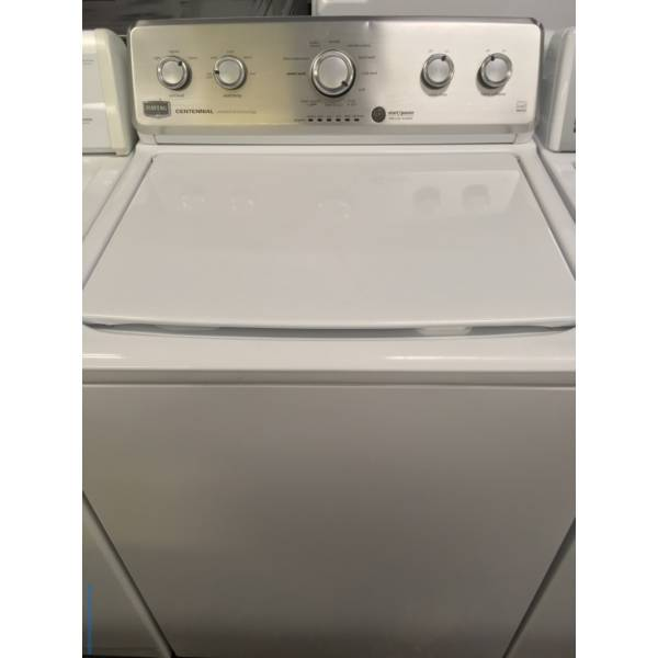 Lovely Maytag MCT Top-Load Washer, Energy-Star Rated, Wash-Plate Style, 3.8 Cu.Ft. Capacity, Deep Water Wash and Wrinkle Control Cycles, Quality Refurbished, 1-Year Warranty!