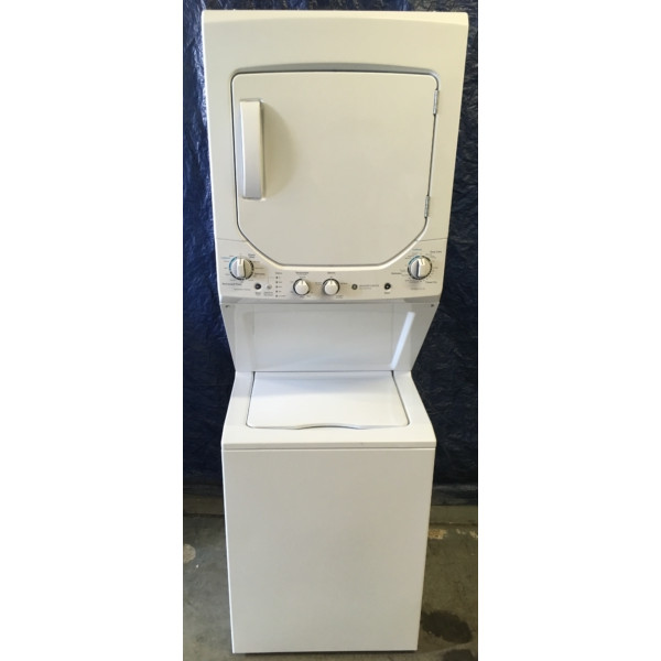 BRAND-NEW GE 24″ Unitized SpaceMaker (2.0 Cu. Ft.) Washer & (4.4 Cu. Ft.) *GAS* Dryer Laundry Center, 1-Year Warranty
