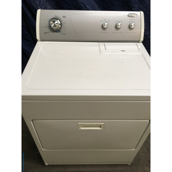 Wonderful Whirlpool 29″ Large Capacity Electric Dryer, 1-Year Warranty