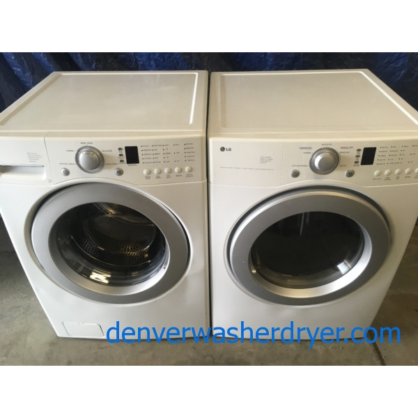 Quality Refurbished LG 27″ Front-Load Stackable Washer & Electric Dryer, 1-Year Warranty