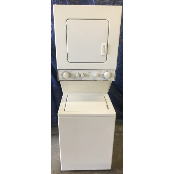 Quality Refurbished Whirlpool 24″ Thin-Twin Electric Laundry Center, 1-Year Warranty