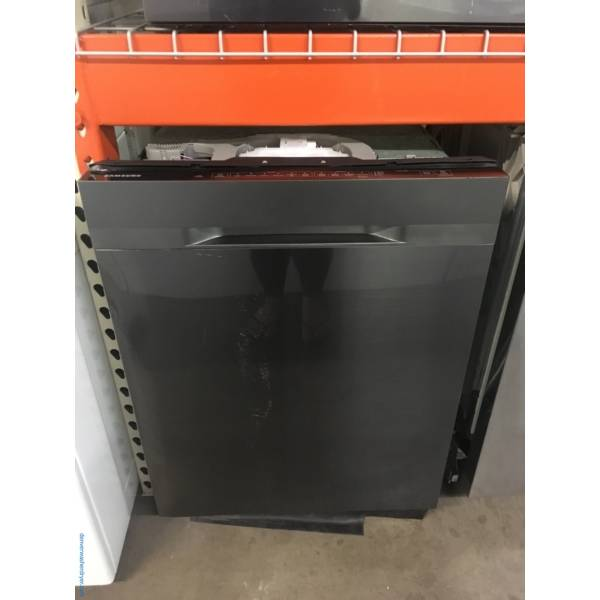 NEW!! Scratch/Dent SAMSUNG Black Stainless Side-by-Side and Dishwasher, Samsung GAS Range and Kenmore Direct-Drive Washer and Dryer Set, 1-Year Warranty!
