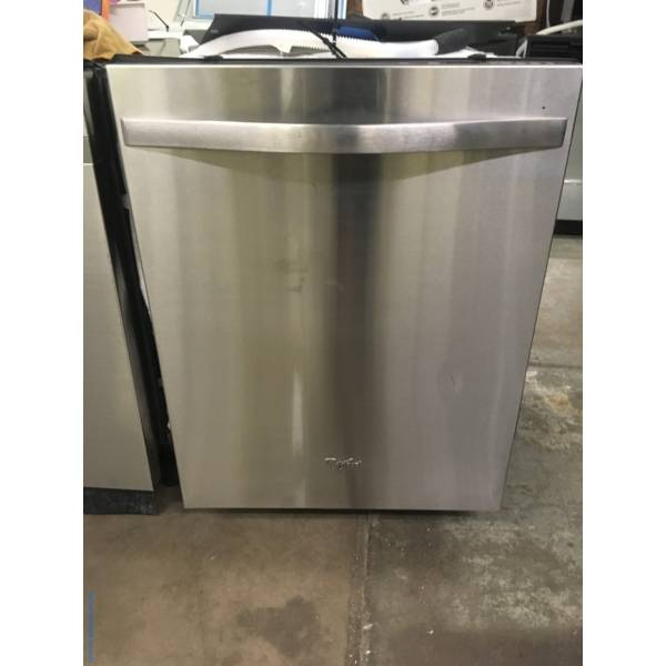 Whirlpool Gold Series Stainless Dishwasher, Stainless Tub, Heated Dry, Sanitize Option, Sensor Cycle, 3 Racks, Quality Refurbished, 1-Year Warranty!