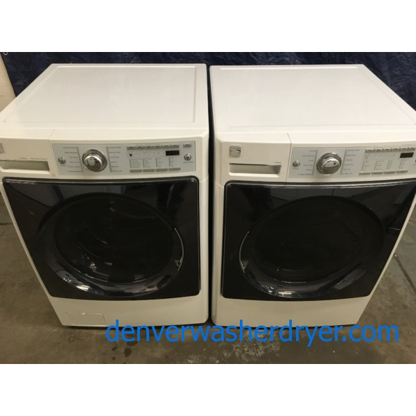 Quality Refurbished HE Kenmore Elite (LG) Highest Quality Front-Load Direct-Drive Washer & Electric Dryer w/Steam, 1-Year Warranty