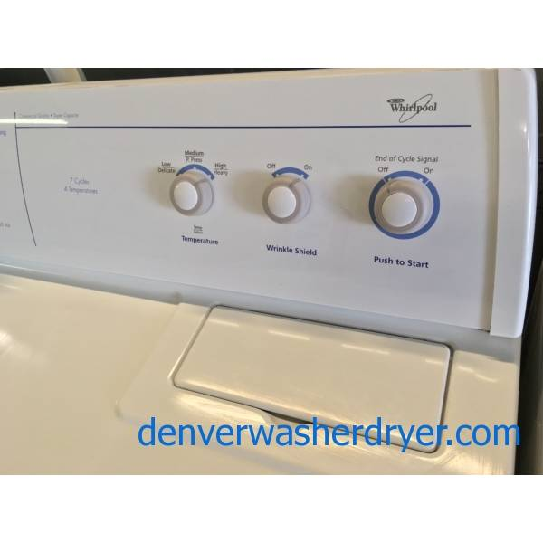 "Whirlpool's ""Quiet Wash"" Technology W/D Set Quality Refurbished 1-Year Warranty"