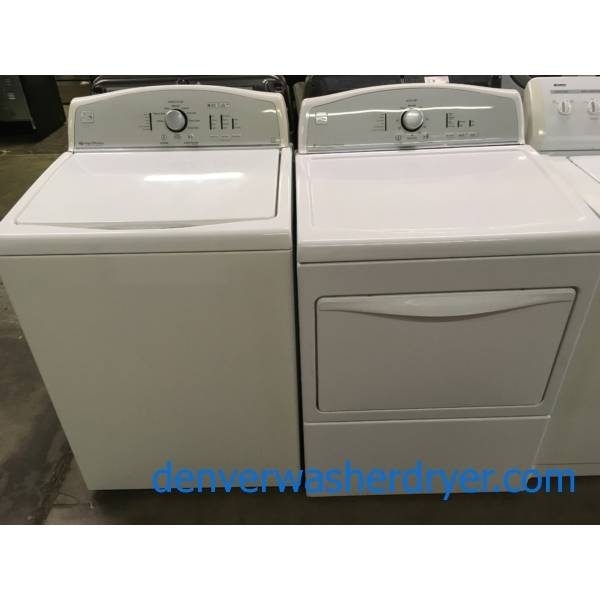 Kenmore High Efficiency Top-Load W/D Set, Quality Refurbished 1-Year Warranty