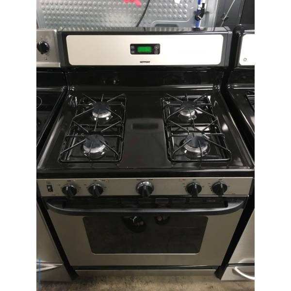 Free-Standing Hotpoint Range, GAS, Stainless Steel, 4 Burners, Quality Refurbished, 1-Year Warranty!