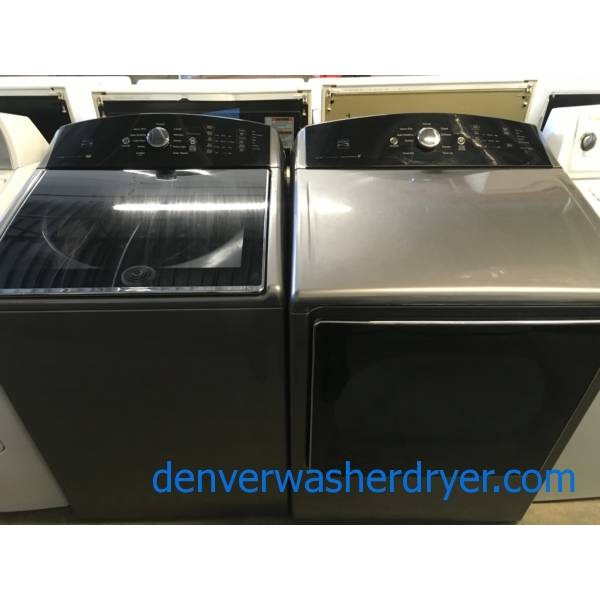 Great Looking Grey Kenmore 700 Series Top-Load W/D Set, Quality Refurbished 1-Year Warranty