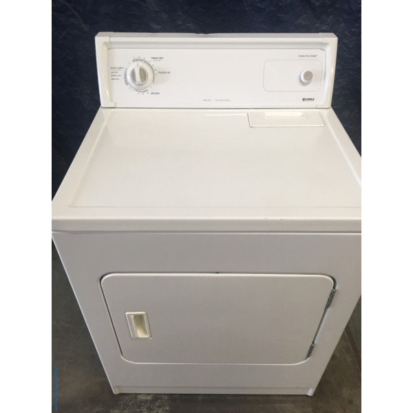 "XL-Capacity 29″ Quality Refurbished Kenmore Heavy-Duty Electric ""Flat-Back"" Dryer, 1-Year Warranty"