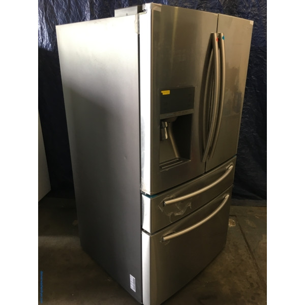 BRAND-NEW Stainless 36″ Samsung 4-Door French-Door Refrigerator (29.1 Cu. Ft.), 1- Year Warranty