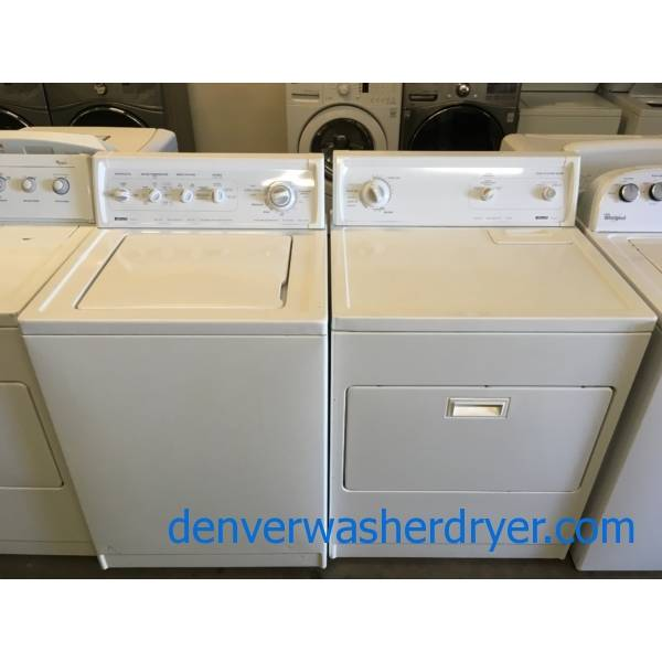 Kenmore Top-Load Washer and Dryer Set, Direct-Drive, Heavy-Duty, Agitator, Extra-Rinse Option, Auto-Dry, Quality Refurbished, 1-Year Warranty!