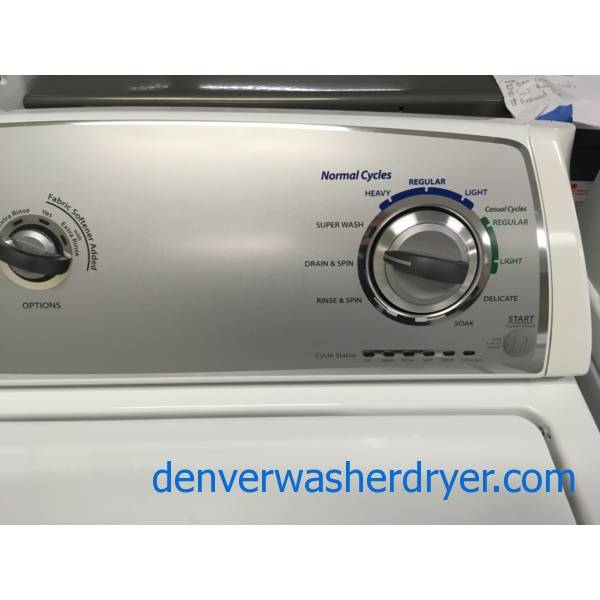 Whirlpool Top-Load Washer, Agitator, Extra-Rinse and ...