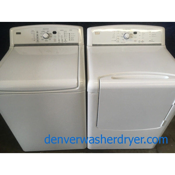Quality Refurbished Kenmore HE ENERGY STAR Direct-Drive Top-Load Washer & Electric Steam Dryer, 1-Year Warranty