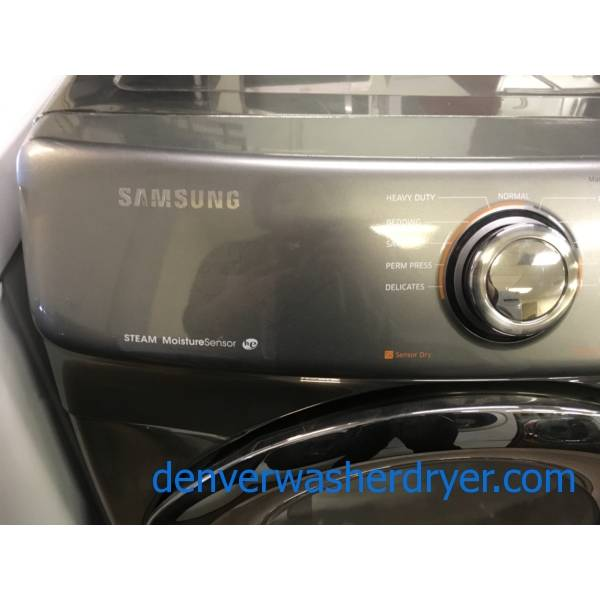 Samsung Front-Load Dryer, Steam Moisture, HE, Sanitize and Wrinkle Away Cycles, Anti Static and Wrinkle Prevent Options, Quality Refurbished, 1-Year Warranty!