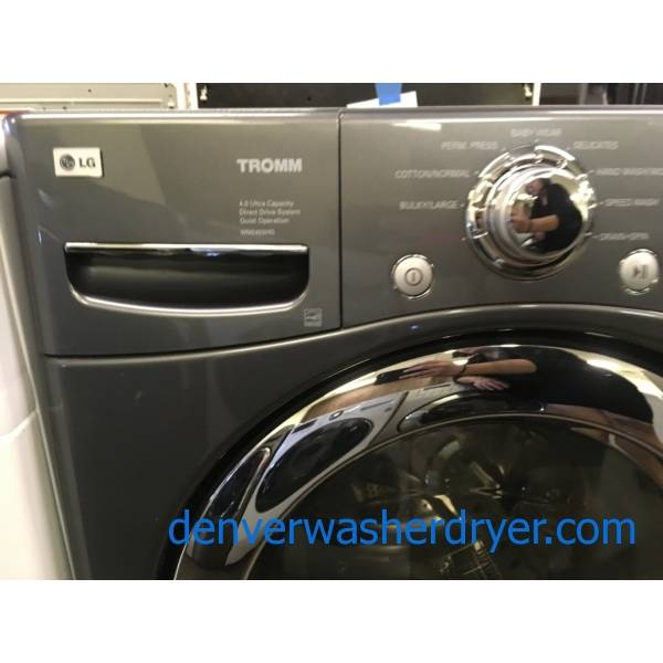 LG TROMM Grey Front-Load Washer, Quiet Technology, Baby Wear and Stain Cycles, Extra-Rinse Option, Quality Refurbished, 1-Year Warranty!