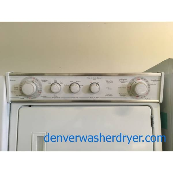 Whirlpool Unitized 27″ Washer/Dryer, Agitator, Heavy-Duty, Automatic Dry, Quality Refurbished 1-Year Warranty!