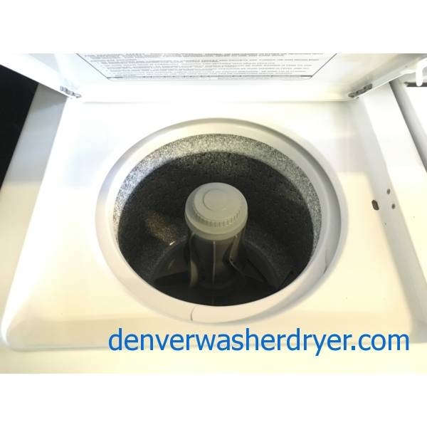 GE 24″ Unitized Washer and Dryer, Agitator, Electric, Heavy-Duty, Automatic Dry, Quality Refurbished, 1-Year Warranty!