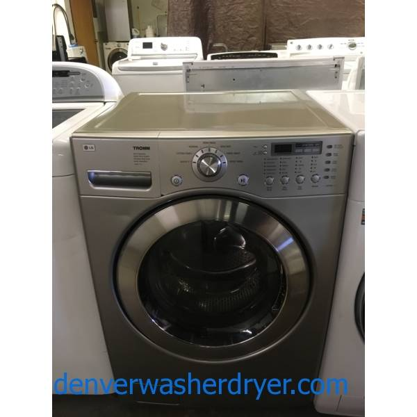 LG Titanium Front-Load Washer, HE, Sanitary and Stain Cycles, Extra-Rinse Option, 3.83 Cu.Ft. Capacity, Quality Refurbished, 1-Year Warranty!