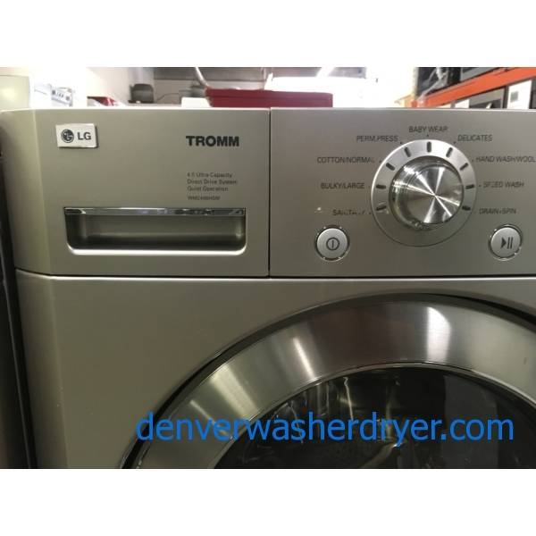 LG TROMM Titanium Front-Load Washer, Sanitary and Baby Wear Cycles, Water Plus and Extra-Rinse Options, 4.0 Cu.Ft. Capacity, Quality Refurbished, 1-Year Warranty!