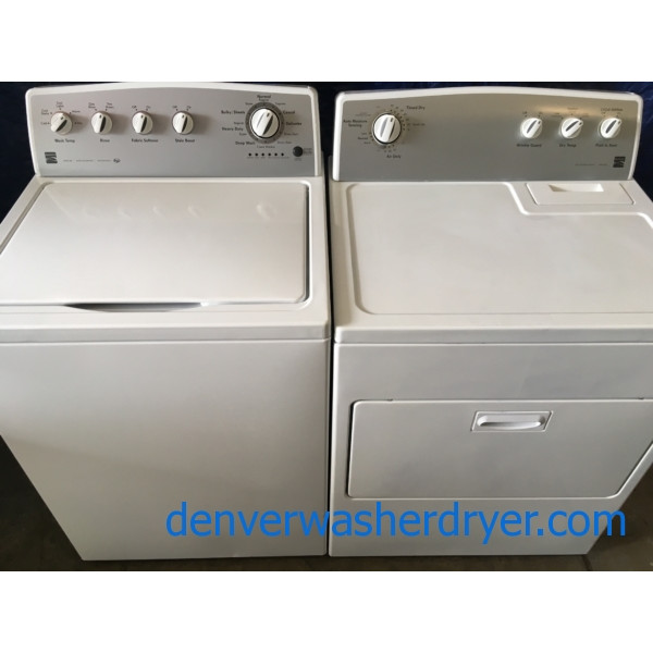HE Kenmore Top-Load Washer & Electric Dryer, 1-Year Warranty
