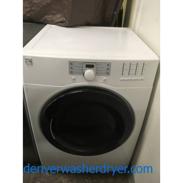 Kenmore White Front-Load Dryer, Electric, Heavy-Duty and Sanitize Cycles, Wrinkle Guard and Touch Up Options, Quality Refurbished, 1-Year Warranty!