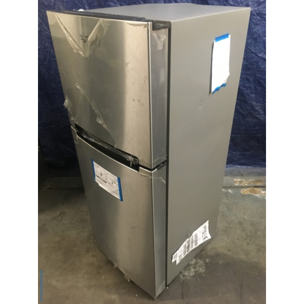 BRAND-NEW 25″ Whirlpool Stainless (10.7 Cu. Ft.) Top-Freezer Refrigerator, 1-Year Warranty