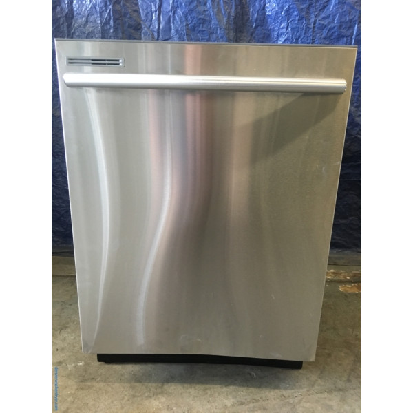 BRAND-NEW ENERGY STAR Stainless 24″ Samsung Built-In Top-Control Dishwasher w/Stainless Interior Door & Plastic Tall Tub, 1-Year Warranty