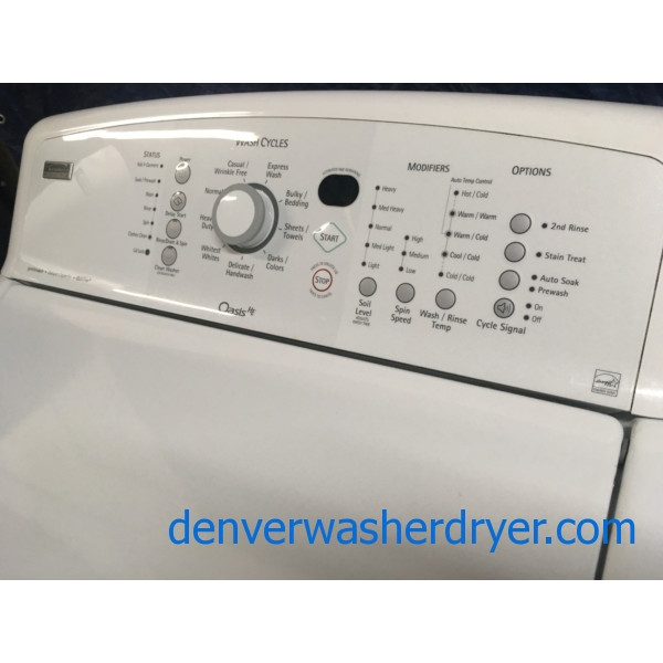 Quality Refurbished Kenmore Elite Oasis-Series HE Top-Load Direct-Drive Washer, 1-Year Warranty