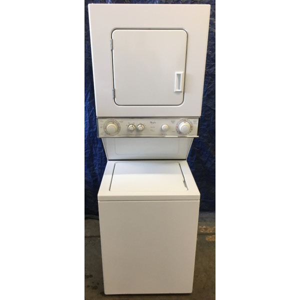 Quality Refurbished 24″ Whirlpool Thin-Twin Electric Laundry Center, 1-Year Warranty