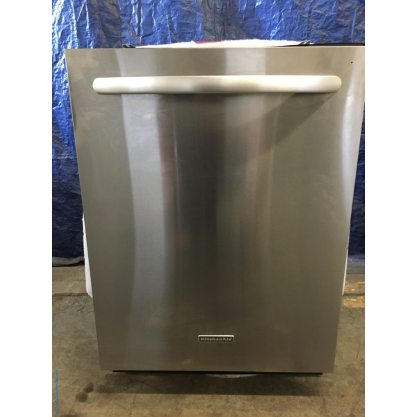 *USED* Stainless KitchenAid Superba 24″ Built-In Dishwasher w/Hidden Controls, 1-Year Warranty