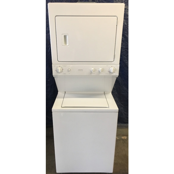 27″ Quality Refurbished GE Heavy-Duty Electric Unitized Space-Maker Washer/Dryer, 1-Year Warranty