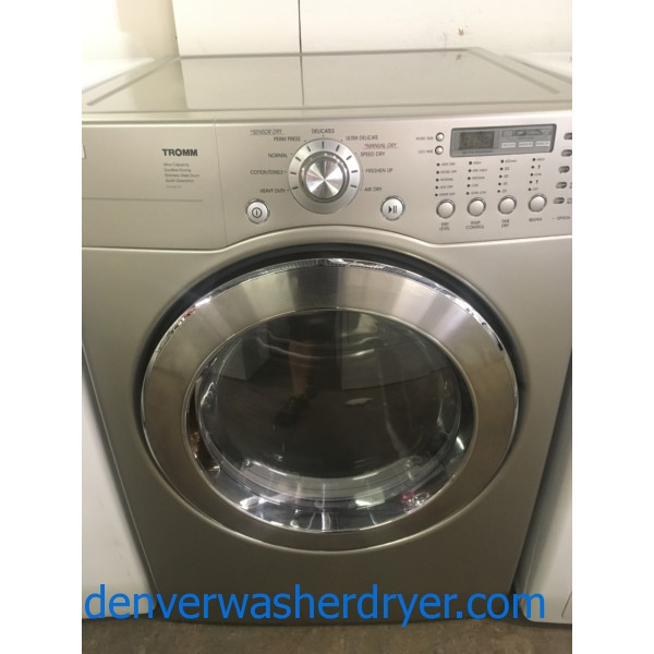 Gas Lg Tromm Front Load Stackable Washer And Dryer
