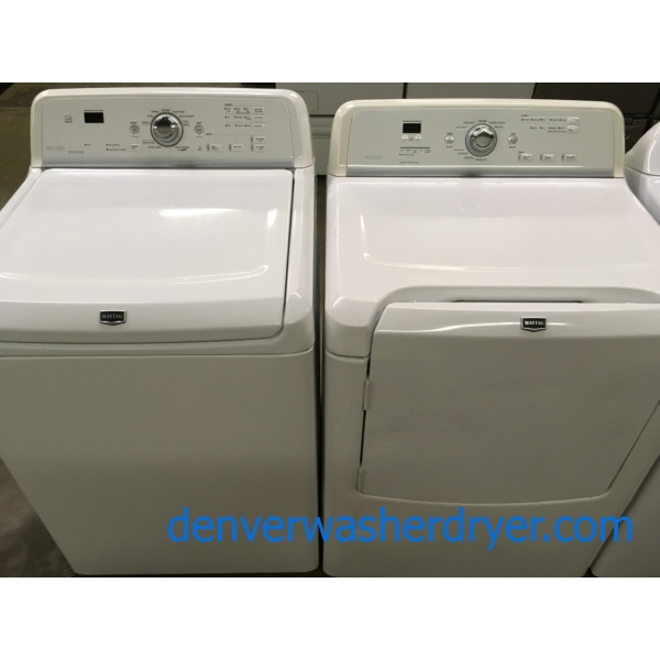 Direct-Drive HE Washer Dryer Set, Maytag Bravos, Quality Refurbished