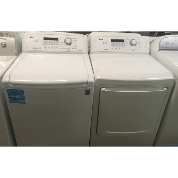 Quality Refurbished LG HE Top-Load Direct-Drive Washer & Electric Dryer Set, 1-Year Warranty