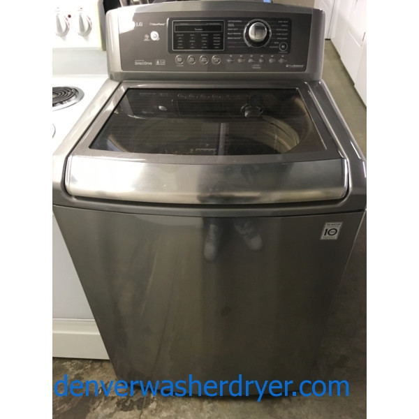 27″ LG Wave-Force HE Top-Load Steam-Washer, 1-Year Warranty