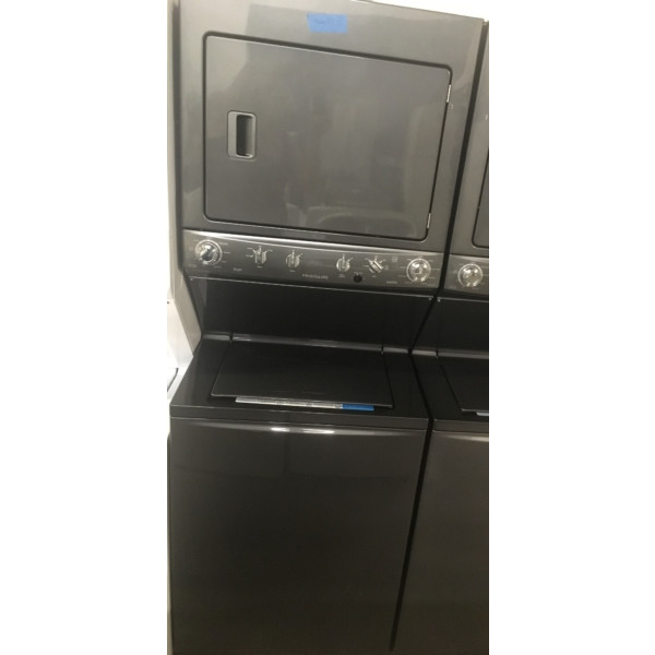 BRAND-NEW Stacked 27″ Unitized Frigidaire HE Washer & Electric Dryer Laundry Center, 1-Year Warranty