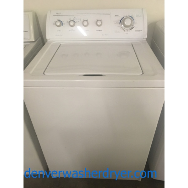 Quality Refurbished 27″ Whirlpool Top-Load Washer w/Agitator, 1-Year Warranty