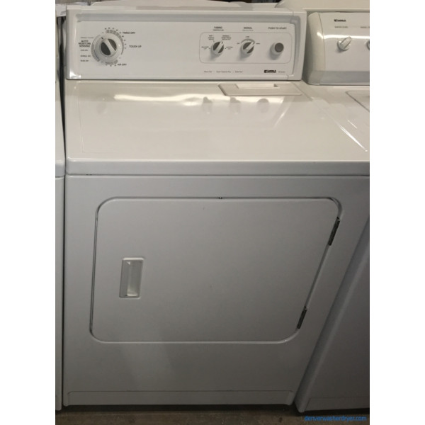 29″ Kenmore Super Capacity *GAS* Dryer, 1-Year Warranty