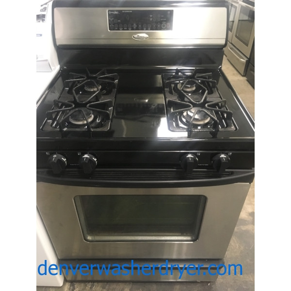 Whirlpool Gold-Series 30″ Free-Standing *GAS* Range, 1-Year Warranty
