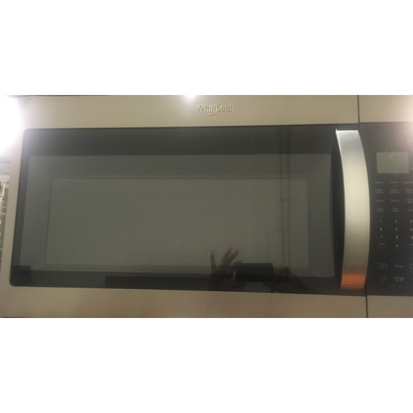 BRAND-NEW 30″ Whirlpool Finger-Print Resistant Stainless-Steel Over-the-Range Microwave w/Sensor Cooking, 1-Year Warranty