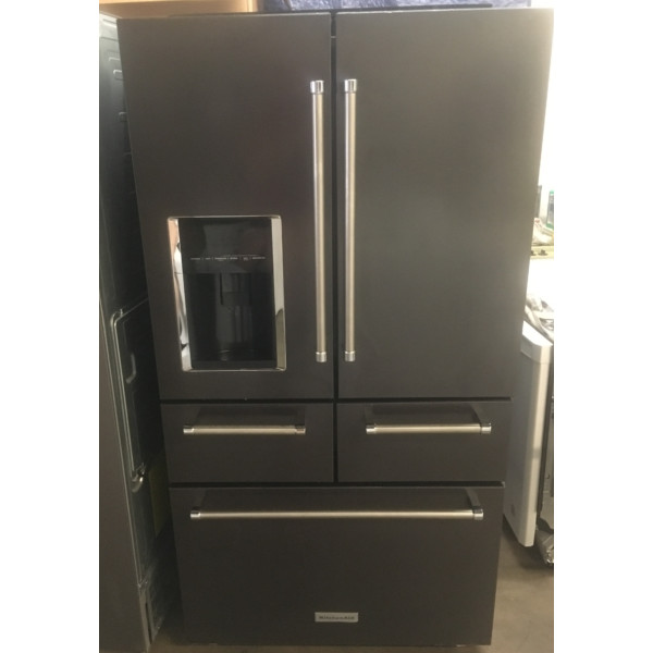 BRAND-NEW 36″ Black Stainless KitchenAid 5-Door French-Door (25.8 Cu. Ft.) Refrigerator, 1-Year Warranty