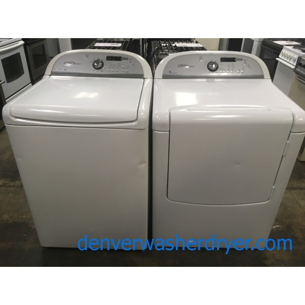 HE 27″ Whirlpool Cabrio Top-Load Washer & *GAS* Dryer, 1-Year Warranty
