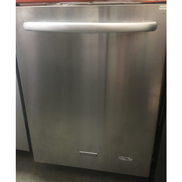 24″ KitchenAid Stainless Built-In Dishwasher w/3rd Rack, 1-Year Warranty