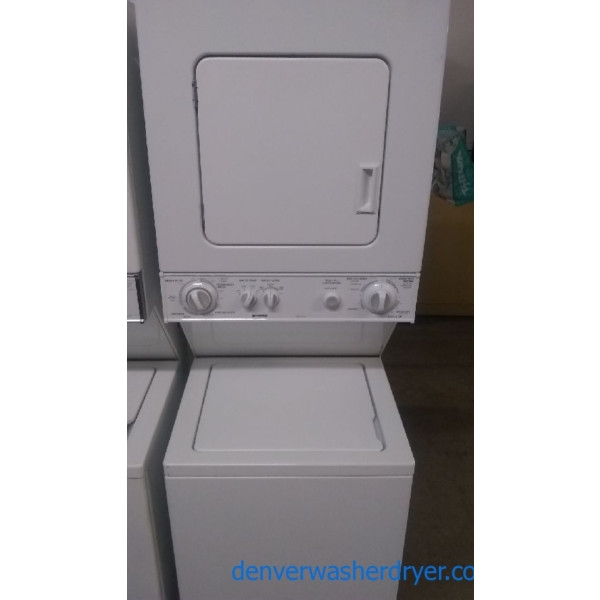 Heavy-Duty Quality Refurbished 24″ Kenmore Unitized Laundry Center, 1-Year Warranty