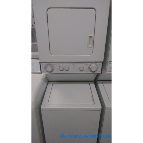Quality Refurbished 24″ Whirlpool Stacked Laundry Center w/Electric Dryer, 1-Year Warranty