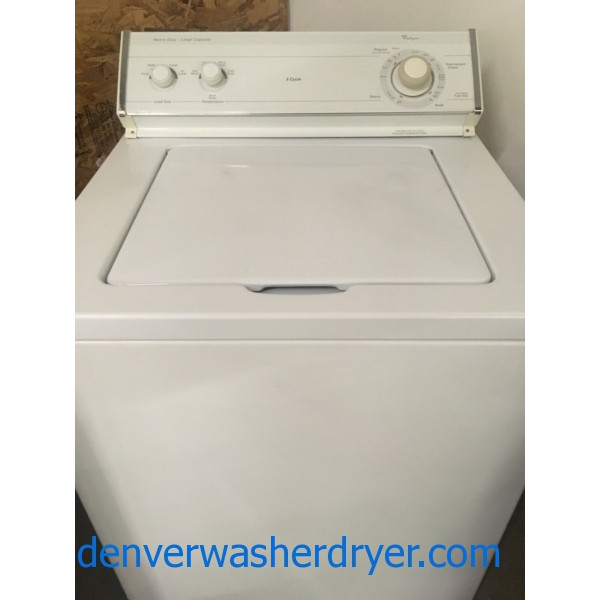 Quality Re4furbished Whirlpool Top-Load Direct-Drive Washer, 1-Year Warranty