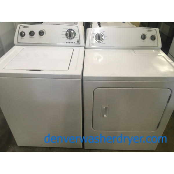 Whirlpool Top Load Washer Electric Dryer 1 Year Warranty
