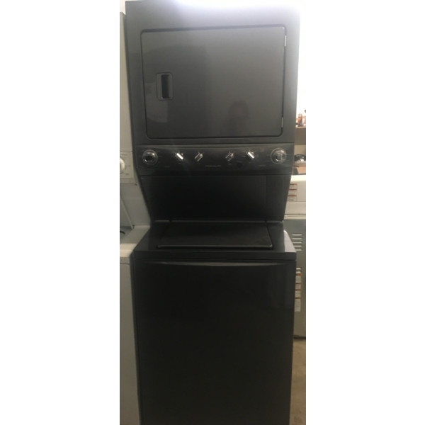 Barely Used 27″ Frigidaire Stacked HE Washer & Electric Dryer (Unitized) Laundry Center, 1-Year Warranty