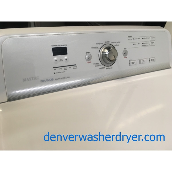 Mighty Maytag Bravos Direct-Drive HE Washer, Electric Dryer, Quality Refurbished, 1-Year Warranty!