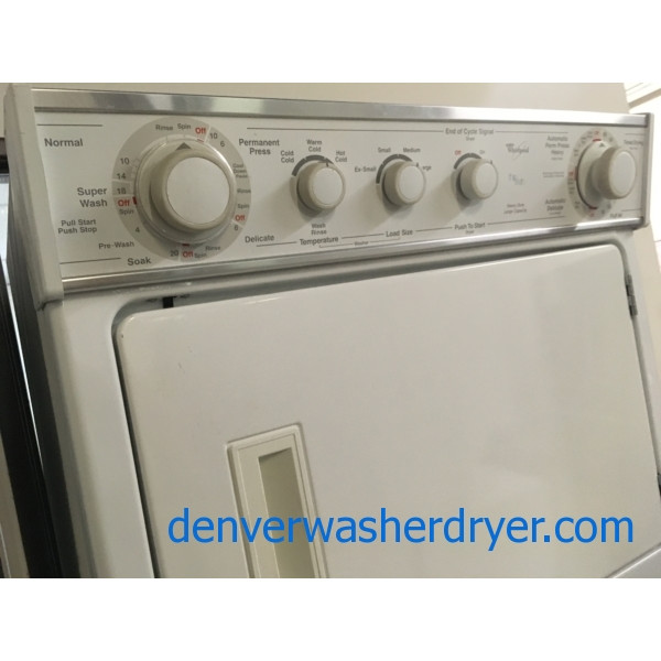 Whirlpool Direct-Drive Full-Size Unitized Washer/Dryer Combo, 220V, Quality Refurbished, Heavy-Duty